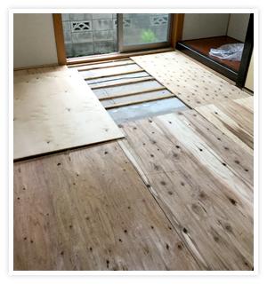 床の根太組